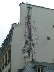 Bonom (2009) (Archi & Philou) Tags: streetart mexico bull mexique paris03 paintedwall taureau murpeint bonom