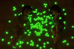 Glow in the dark testing (yuzuhana) Tags: shiny glow honey harmony benjamin minoru bluefairy yosd