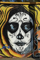 Blue Eye Skeleton Mexico (Ilhuicamina) Tags: streetart art mexico graffiti paintings murals oaxaca diadelosmuertos walls skeletons calavera