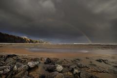 """ FULL ARCH IN FACT ALL MOST TWO "" (Wiffsmiff23) Tags: storm beach rainbow dramatic drama epic traeth nashpoint cwmnash heritagecoastlinesouthwales fullarchrainbow"