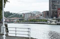 Zubizuri, Bilbao (jacqueline.poggi) Tags: bridge españa architecture spain footbridge bilbao architect pont espagne vizcaya paysbasque paísvasco passerelle zubizuri contemporaryarchitecture biscaye architecturecontemporaine riadelnervion