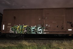 Rove  Beast (Revise_D) Tags: railroad graffiti revise rove beast graff tagging freight revised trainart fr8 bsgk fr8heaven fr8aholics revisedesigns revisedesign fr8bench benchingsteelgiants