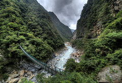 Taroko Gorge (World Traveller Photography) Tags: mountains green nature rain forest river asia cloudy taiwan canyon gorge wilderness lush tarokogorge