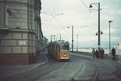 Budapest (cranjam) Tags: film lomo lca lomography hungary budapest tram unesco worldheritagesite publictransport danube 41 ungheria margithíd danubio margaretbridge adox colorimplosion