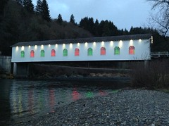 Goodpasture Covered Bridge Christmas Vida, Oregon II - 2013 (Jurassic Blueberries) Tags: china christmas new city flowers friends light england italy music food dog india house lake holiday chicago france flower color green london fall love film halloween nature girl fashion festival japan museum clouds germany garden landscape geotagged mexico fun island graffiti hawaii la dance football concert model europe italia day florida live iphone