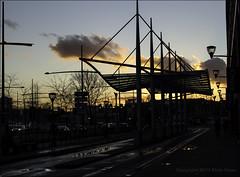 Zuidpoort Delft / The Netherlands (zilverbat.) Tags: sky cars dutch architecture clouds photography lights dusk postcard thenetherlands dramatic delft vermeer halte htm tramhalte zuidpoort dutchholland zilverbat canonpancake40mmf28stm