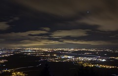 View from the Mont St-Odile (virginieb20) Tags: city light sky france night landscape countryside cityscape illuminated alsace campagne mont elsass odile canon650d canonefs18135isstm