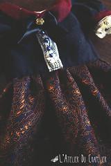 Peacock Dress - L'Atelier du Chapelier (Holly Hatter) Tags: flower forest vintage liberty miniature diy pattern dress little lace sewing victorian peacock clothes fabric fawn romantic pearl chic etsy couture mori dentelle liddell violonist shabby vieillerie hollyhatter latelierduchapelier atelierduchapelier