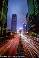 HONG KONG HIGHWAY, EXPLORED # 231 (Robert Aycock) Tags: china vacation hongkong highway nightshots lightslongexposure robertaycock