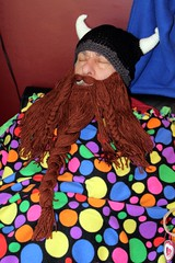 It's not safe to fall asleep (cathymccaughan) Tags: christmas sleep viking grandaddy