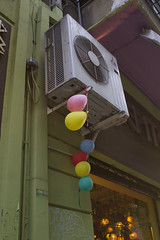 Joy. (to-koumpi) Tags: street balloons machine device athens greece aircondition