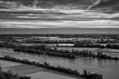 "View from  ""Dead-Hall Building, Walhalla"" (The Photo Life) Tags: above sky blackandwhite bw cloud tree water river germany landscape bayern deutschland bavaria blackwhite wasser fineart documentary himmel wolke fujifilm monochrom walhalla fluss landschaft bäume fujinon baum darksky donau umwelt 3514 donaustauf documentaryphotography xe1 landscapeview niksilverefex"