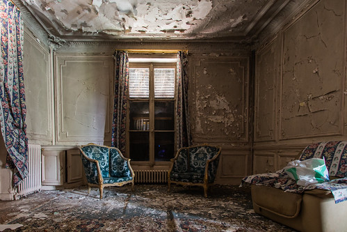 {Urbex} Villa de l'ambassadeur - Le salon