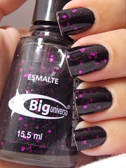 Gemini - Big Universo (Natalia Breda) Tags: glitter preto desafio biguniverso esmaltenacional