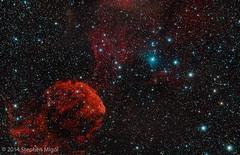 IC 443 Jellyfish Nebula in Jan 2014 (S Migol) Tags: pentax nebula astrophotography astronomy astrophoto smigol ic443 montebelloosp pentaxk10d jellyfishnebula Astrometrydotnet:status=solved stephenmigol medusanebula stellarvuesv4 copyright2014 idasheuibii idaslprp2 Astrometrydotnet:id=nova219758