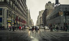 Winter's Wonder (Jonathen Adkins) Tags: street new york city nyc winter people snow manhattan awesome vision:sunset=0565 vision:street=0979 vision:sky=059 vision:outdoor=0902