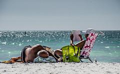 Ageing Beautifully! (BGDL) Tags: sleeping reading couple florida sarasota odc starmandscircle lidobeach nikkor18105mm13556g nikond7000 bgdl lightroom5 withagecomes