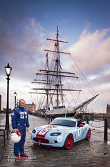Max5 Race Car and Tall Ship (PGDesigns.co.uk) Tags: car youth race dawn dock sailing ship photoshoot albert s jeremy racing trust tall adventures stavros canning max5 conveyors strobist niarchos roddisonmotorsport