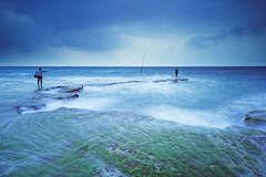 Palmahim beach (Hemo Kerem) Tags: longexposure seascape beach water clouds israel fishermen sony nd hitech fishingrod palmahim gnd tokina1116mmf28 sonya77 mygearandme mygearandmepremium mygearandmebronze mygearandmesilver mygearandmegold mygearandmeplatinum mygearandmediamond blinkagain prostop