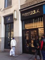Flight 23 at FootAction (Joe Architect) Tags: nyc travel ny newyork manhattan favorites 2014 yourfavorites newyorkfavorites flight23 uploaded:by=flickrmobile flickriosapp:filter=nofilter newyorkspring2014