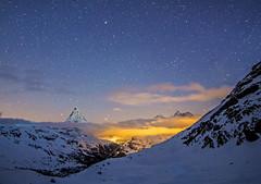 Starry Swiss skies (Alex Tudorica) Tags: winter light mars snow cold ice fog night clouds stars switzerland pollution astronomy zermatt matterhorn fleursetpaysages outstandingromanianphotographers