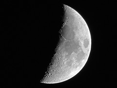 Waxing Crescent Moon - June 4, 2014 (spacemike) Tags: sky moon mare charlotte space northcarolina luna craters crater astrophotography astronomy nightsky charlottenc lunar crescentmoon waxingmoon charlottenorthcarolina waxingcrescentmoon astromike spacemike
