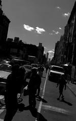 (Badison) Tags: newyorkcity sky people urban clouds skyscraper lunch chelsea break traffic walk wtc silhoutte img4373