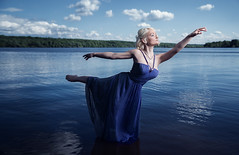 Samantha Ashley (Dan Cuellar Photography) Tags: lake philadelphia water fashion ballerina dancer commercialphotography waterdancing ballerinadancer dancuellar dancuellarphotography samanthaashley