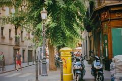 barcelona (a.shubina) Tags: barcelona street city trip travel summer espaa sun colour cute film architecture speed town spain atmosphere moto comfort oldtown fed5b photographies filmphoto fed5v shubina filmcolors