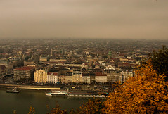 Morning above the City (gabi_halla) Tags: morning morninglife city above sleeping dawn danube foggy river autumn cold leaves bush buildings sky cloud cloudy clouds budapest hungary travel ship ships endless infinite horizont outdoor