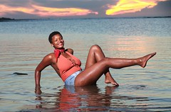 DP1U8777 (c0466art) Tags: lovely princess sao tome mayla pretty smile beautiful sunset momemt colorful golden sea reflection nice pose action weat africa small country outdoor portrait light canon 1dx c0466art