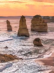The Twelve Apostles - 2005 (JoPMas) Tags: victoria ocean waves rockformations sunset seascape australia sea twelveapostles caravan greatoceanroad