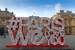 Place du Palais Royal - Paris (France) (Meteorry) Tags: europe france idf ledefrance paris placedupalaisroyal sign letters parisweloveyou twitter instagram comdiefranaise conseildtat evening soir parisien summer t sky ciel july 2016 meteorry