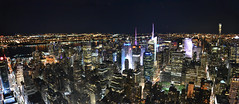 New York Skyline (mettlog) Tags: newyork landscape lights nights notte luci panorama city bigapple citt paesaggio alto highest grandemela