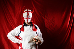 Ingerland... (Apionid) Tags: england rugby supporter white red selfportrait nikond7000 werehere hereios 366the2016edition 3662016 day280366 6oct16