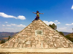 """The famous Nile River has its southernmost source in Bururi, discovered 1934 by the German Waldecker. A pyramid symbolises this discovery process was set up 1938, on the top of the Mt. Gikizi at 2088m.   August 2016 #itravelanddance • <a style=""""font-size:0.8em;"""" href=""""http://www.flickr.com/photos/147943715@N05/30194593500/"""" target=""""_blank"""">View on Flickr</a>"""