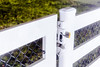 EZ Latch Locked (Buckley Fence, LLC) Tags: whitefencefarm chicagoland pettingzoo illinois fall steelfence wiremesh blackmesh buckleyfence steelboard whitefence night ezlatch padlock lock locked