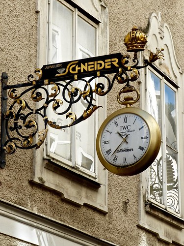 IWC Clock Sign of Schneider Juwelers in Salzburg Austria