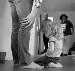 ...Generations... (7H3M4R713N) Tags: person blackandwhite bw monochrome xt1 fujinonxf23mmf14 childhood bokeh familly child fujifilm imfuji lovefuji indoor