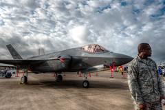 On Duty (txwhitacre - I think I'm back :)) Tags: f35 lightening2 d500 nikon fortworthallianceairshow airshow sky clouds fighterjet jets lockheed lockheedmartin outdoor