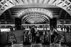 Down the Chute (Geoff Livingston) Tags: metro washington dc escalator commuters train station subway tube street