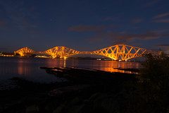 Forth Rail Bridge #9 (Claire Stones) Tags: southqueensferry longexposure october nikon cloud forthrailbridge forthrailwaybridge firthofforth bluesky scotland forth