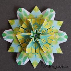 Iimori Flower F (Day 40) (Yureiko) Tags: yureiko tessellation papierfalten papier origami paperfolding paper