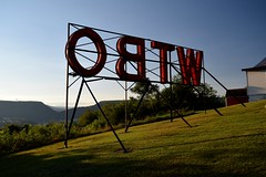 WTBO sign (SchuminWeb) Tags: schuminweb ben schumin web september 2016 maryland md allegany county cumberland alleghenies allegheny alleganies alleghany alleghanies mountains mountain town wtbo sign signs signage radio station stations broadcasting lettering letter letters red white neon top mountaintop light lights lighting view scenery transmitter queen city signing wills