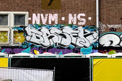 graffiti amsterdam (wojofoto) Tags: amsterdam graffiti streetart nederland netherland holland wojofoto wolfgangjosten ndsm basek