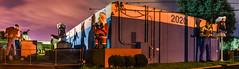 2020 (pbo31) Tags: california bayarea nikon d810 color night dark black november fall 2016 boury pbo31 hayward eastbay alamedacounty plastics left panorama stitched large panoramic industrical santa muffler man orange holidays giant russellcity heads 2020
