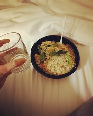 Current situation at #NCSLMA16 - basil fried rice & wine!!! Worn out in the best way! (PTank Media Center) Tags: current situation ncslma16 basil fried rice wine worn out best way