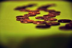 Penny Lane (HMM) Explored- 11-29-16 (niKonJunKy22) Tags: macromondays beatles pennylane yellowsubmarine penny pennies lane row hmm copper money line lines yellow nikon d700 nikond700 nikkor28300 nikkor bright light color colors