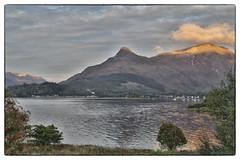 Glen Coe Scotland. (Adrian Walker.) Tags: elements glencoe scotland hills mountians seascape landscape clouds sunset canon80d lochleven water loch hdr colourefex4 ps14