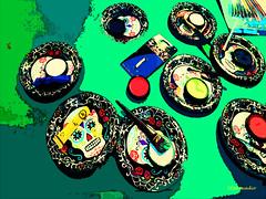Dias de los Muertos #painting (Stephenie DeKouadio) Tags: color diasdelosmuertos painting art colour allsaints abstract abstractart